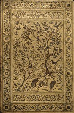 Safavid art Leather Binding-1500/1550 http://www.dia.org/object-info/a01cd63f-ea41-45f6-b721-299664b388a3.aspx