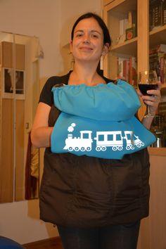 Moje první vetší šití - kapsa na nošení miminka