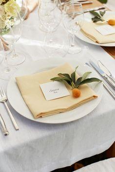 segnaposto matrimonio agrumi | Wedding Wonderland