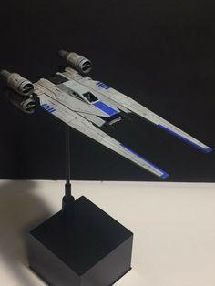 BANDAI 1/144 U-Wing Starfighter by toshi U Wing, Star Wars Design, Rebel Alliance, Model Ships, Models, Stars, Concept Ships, Templates, Sterne