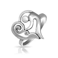 Bling Jewelry 925 Sterling Silver Swirl Mother and Child Heart Ring ** Learn more by visiting the image link.Note:It is affiliate link to Amazon.