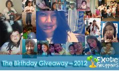 The Birthday Giveaway – 2012 - Exotic Philippines. If you win, a surprise person (celebrity??) will call you on your phone and have a conversation with you! Ends 6/10
