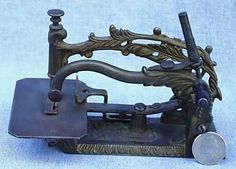 sewing machines from long ago | figural sewing machine this rare and unusual antique sewing machine ...