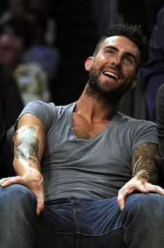 Adam Levine doing one of his many talents, spreading his legs. Adam Levine, I Still Love Him, My Love, Mr Adams, The Voice, Man O, Behati Prinsloo, Perfect Love, Street Style