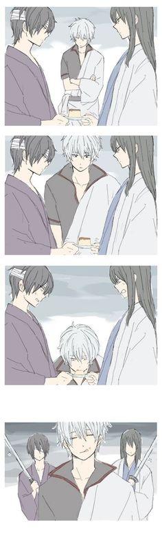 GINTAMA, Takasugi Shinsuke, Sakata Gintoki, Katsura Kotarou & Pudding