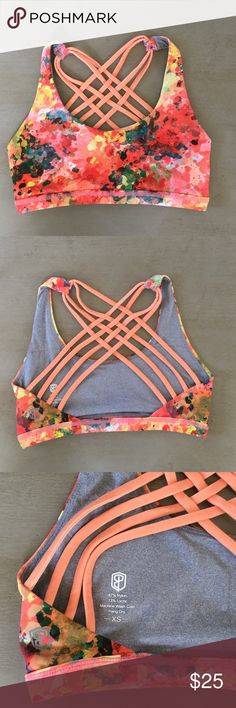 Born Primitive sports bra sz XS Similar to lululemon's free to be wild sports bra but offers more support in my opinion. Worn once. Excellent condition. NOT lululemon, tagged for exposure. lululemon athletica Intimates & Sleepwear Bras