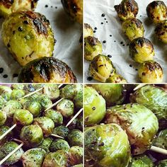 Brussels Sprouts Skewers are also a veggie option we will have on our menu. We just need to think about a fruit or probably tofu to match with it. Decisions to take with time.