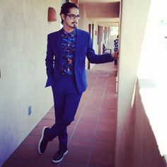 """Avan Jogia on Instagram: """"Leaning against the beige stucco in my @kenzo suit."""""""