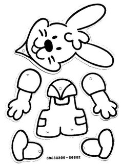 Easter bunny to make Easter Art, Easter Crafts For Kids, Easter Bunny, Diy For Kids, Easter Colouring, Colouring Pages, Easter Activities, Preschool Crafts, Spring Crafts