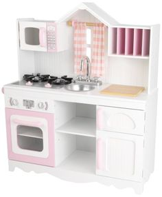 Modern Wooden Play Kitchen child's wooden play kitchen, wooden toy kitchen all natural, real