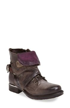 Free shipping and returns on A.S.98 A.S. 98 'Simon' Front Cuff Leather Boot (Women) at Nordstrom.com. A rugged bootie crafted from gorgeously distressed leather features an adjustable wire in the foldable, color-pop tongue and wraparound shaft cuff that allows customizable positioning for a modern look with menswear influences.