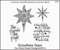 OUR DAILY BREAD DESIGNS SNOWFLAKE STARS