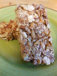 Easy nutty gluten free energy bar.  NO refined sugar. www.hannahhepworth.com