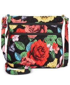 9da6c3e01aa Vera Bradley Triple-Zip Hipster Crossbody & Reviews - Handbags &  Accessories - Macy's