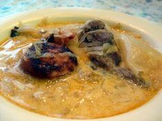 Slovak Sauerkraut Soup for 100 (Kapustnica pre Sto) Slovak Recipes, Czech Recipes, Hungarian Recipes, Russian Recipes, Hungarian Food, Sauerkraut, Christmas Soup, Chili Soup, Paleo Soup