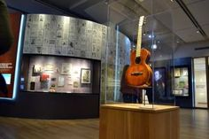 Several unique instruments were available at the new Woody Guthrie Center in #Tulsa