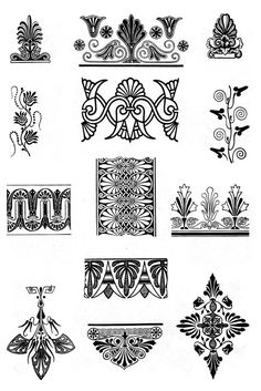 Antiquity ornaments, from Ornaments, Styles, Motives by NS Voronchihin, NA Emshanova, Udmurtia University publisher