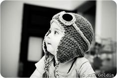 Aviator hat pattern for warm ears and endless cuteness?  Um. Yes. Please.