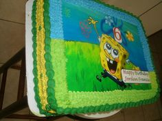 Sponge Bob picture with butter cream icing