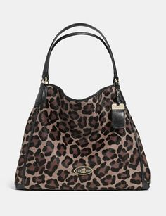 Coach Large Edie Shoulder Bag In Printed Haircalf - WANT!!!!