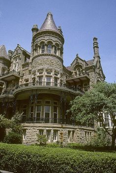 The house was built between 1887 and 1893 by Galveston architect Nicholas J. clayton for lawyer and politician Walter Gresham, his wife Josephine, and their nine children. In 1923 the Roman Catholic Diocese of Galveston Victorian Architecture, Beautiful Architecture, Beautiful Buildings, Beautiful Homes, Beautiful Places, Classical Architecture, Ancient Architecture, Old Mansions, Abandoned Mansions