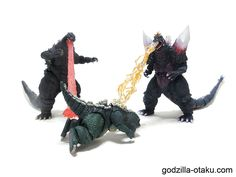something is wrong... very wrong..(Godzilla 1995 Birth Version, Little Godzilla, and Space Godzilla)