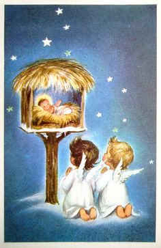 Old Christmas Post Сards  —  The Nativity (500x771)