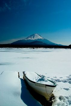 A winter's view of Mt. Fuji, #Japan