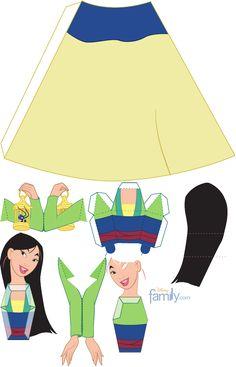 Princesas em 3D para montar - Dicas pra Mamãe