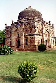 Lodi Gardens: A park in Delhi, India. Spread over 90 acres; contains, Mohammed Shah's Tomb, Sikander Lodi's Tomb, Sheesh Gumbad and Bara Gumbad. The gardens are situated between Khan Market and Safdarjung's Tomb on Lodi Road.