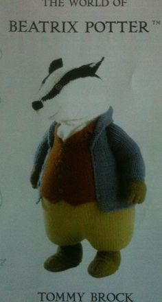 Beatrix Potter Knitting Patterns : Hand Knitted Toy Beatrix Potter Pigling Bland from Alan Dart pattern