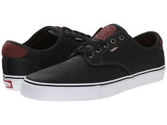 Upping the game @ $6500  Vans Chima Pro (Tooled Leather) Black -  A little better quality + leather supposedly more durable and more comfortable padding. I like these.