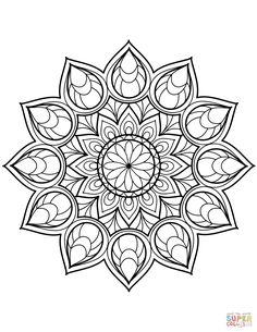 Here Are Difficult Mandalas Coloring Pages For Adults To Print Free Mandala Is A Sanskrit Word Which Means Circle And Metaphorically Universe