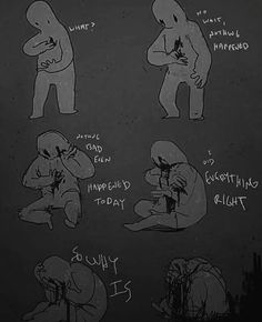 This is the saddest depiction of anxiety/depression/pain I've ever seen. Heartbreaking.