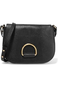 b58e914bb9ad Little Liffner - D Saddle medium lizard-effect leather shoulder bag