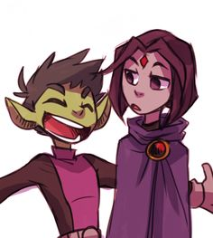 Garfield Mark Logan a.k.a Beast Boy This couple is so cute <3