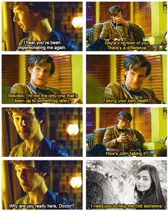 The Doctor calls Sherlock out on his bs.