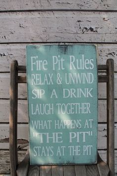 Items similar to Fire pit Rules campfire rules Backyard decor Typography Word Art Sign on Etsy Fire Pit Decor, Diy Fire Pit, Fire Pit Backyard, Backyard Bbq, Backyard Ideas, Wedding Backyard, Garden Ideas, Patio Ideas, Firepit Ideas