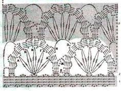 Узор вязания крючком с элементами брюггского кружева » Вязание крючком и спицами, модели и схемы с описанием, вышивка крестиком, рукоделие для дома своими руками