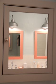 Kids Bathroom Benjamin Moore Colors: Coral Gables, Ocean Air, Mountain Peak White