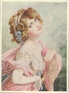 Lily Elsie as Sonia Sadoya in The Merry Widow (1908). Illustration by Talbot Hughes.