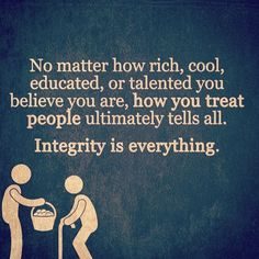 via ======> ever lost who you are - Repost from Doble tap and tag someone else Integrity Quotes, Morals Quotes, Honesty And Integrity, Leadership Quotes, Generosity Quotes, Leadership Values, Qoutes, Quotable Quotes, Hindi Quotes