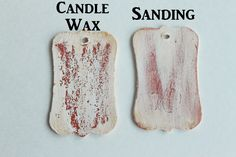 DecoArt Blog - How to Get a Rustic, Chipped Paint Finish with candle wax and Chalky Finish. Compare it to the distressed finish you get with sanding.