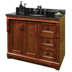 Foremost Naples 36 in. W x 21.75 in. D x 34 in. H Vanity Cabinet Only in Warm Cinnamon-NACA3621D at The Home Depot
