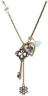 ShopStyle: Lucky Brand - Austin City Limits- Key To My Heart Charm Necklace