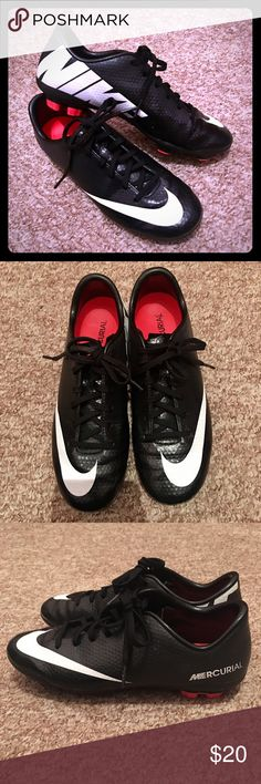 Nike Cleats Size Youth 4 Nike MERCURIAL Cleats Size Youth 4....The Cleats are in Great Shape!!! Nike Shoes