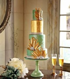 ultra wedding cakes | Gatsby Themed Wedding Decor: The Wedding Cake