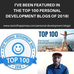 I've Been Featured In The Top 100 Personal Development Blogs Of 2016 — Medium