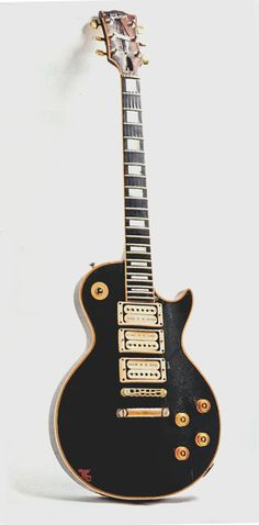 "Peter Frampton | '54 Gibson Les Paul, ""The Phoenix.""  Black LP with gold hardware = Bliss"