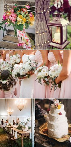 blush pink inspired chic rustic wedding theme ideas for 2015